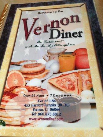 Vernon Diner: menu