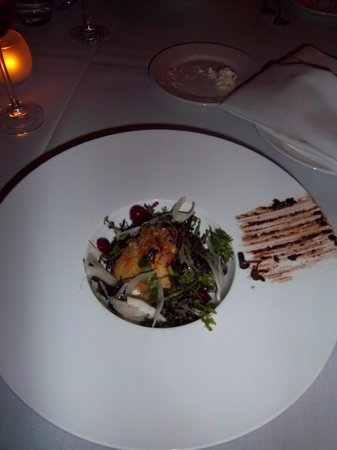 Cress on Oak Creek: Organic mixed greens, roasted parsnip veloute