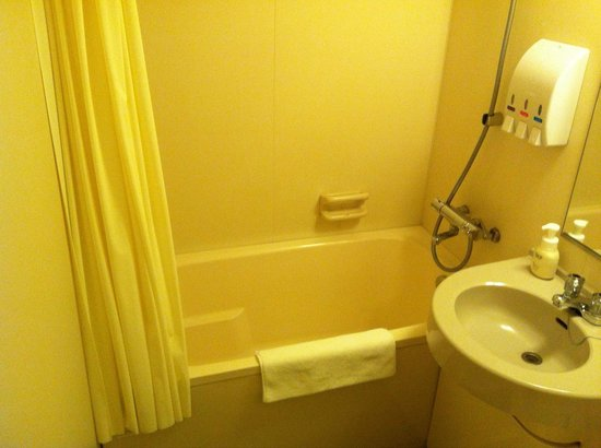 Hotel Sealuck Pal Mito : 長い脚でも、ゆったり入れる浴槽