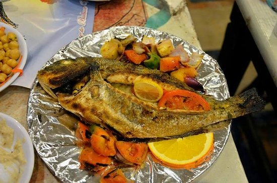 Gilt-head bream fish (Denes - دنيس) Grilled with Oil and Lemon