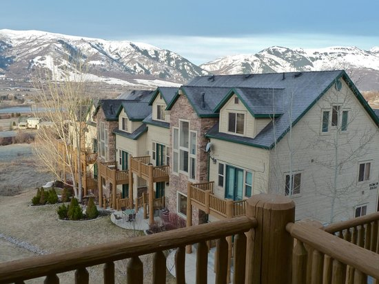 Moose Hollow Luxury Condominiums: View from the back porch