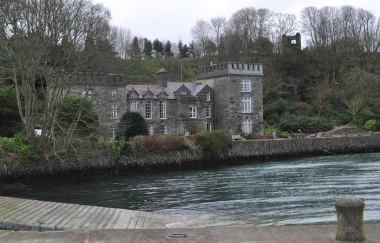 The Castle Townshend: From the boat launch area looking at the Castle