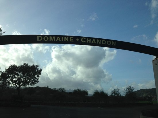 Domaine Chandon : Entrance to winery
