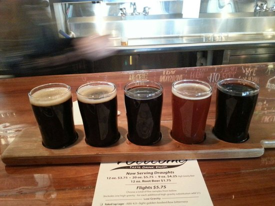 Cortland Beer Company: A nice spring flight of craft beverages.