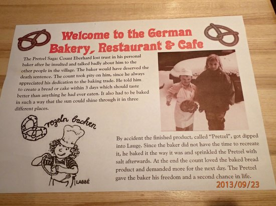 German Bakery Sachsen Cafe & Restaurant: Welcome to the German Bakery, Restaurant & Cafe