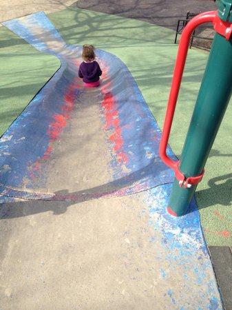 Frick Park: Blue slide