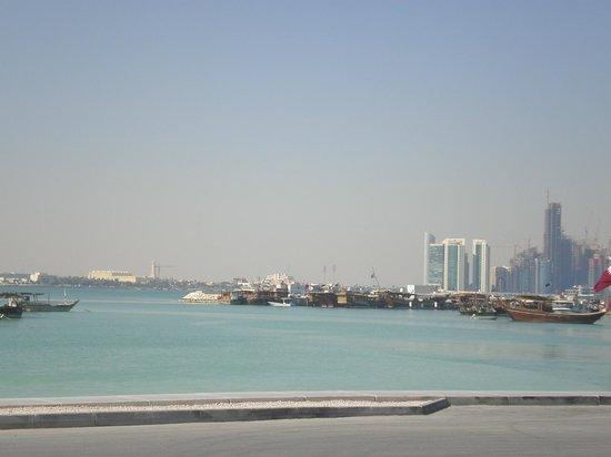 The Corniche: Doha harbour