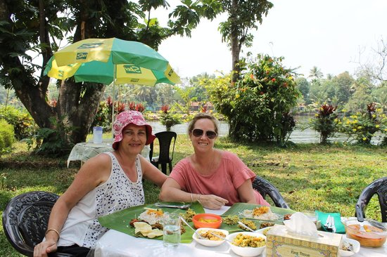 The Pamba Heritage Villa: Fantastic food in a lovely setting