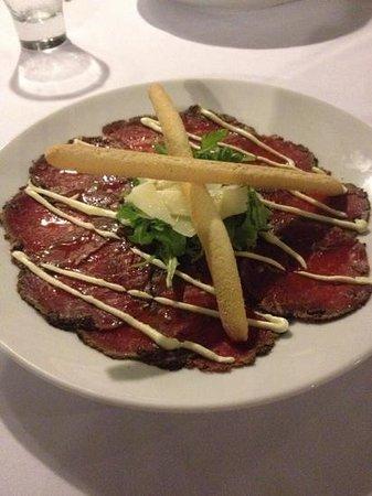 Romanos: beef carpaccio