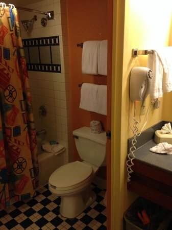 Disney's All-Star Movies Resort: Again, not spacious (and the decor is a bit cheesy).