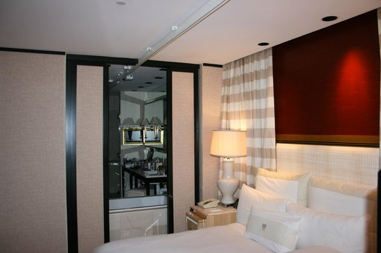 Encore At Wynn  Las Vegas: The track system runs from the bedroom to the bathroom