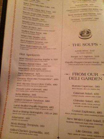 SBG Santo Domingo: menu