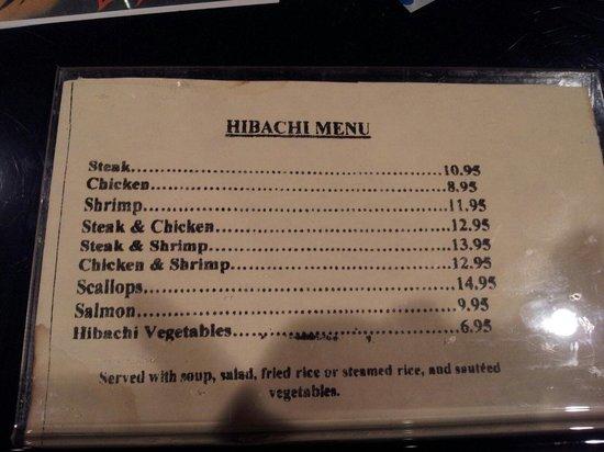 Akashi Japanese Restaurant Greensboro Nc Menu
