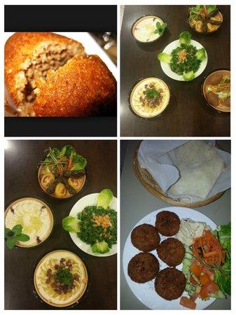 Yasmin Restaurant: prefect combination of deep fried Falafel served with homemade pita bread and fresh salad, hummu