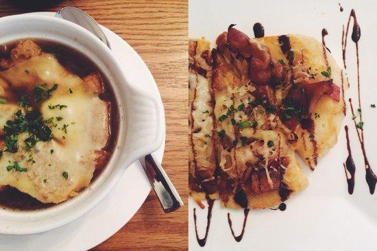 Pineridge Hollow: French Onion Soup, Maple Bacon & Caramelized Onion Flatbread