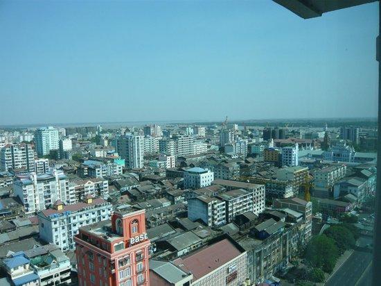 Sule Shangri-La Yangon: 19th floor view