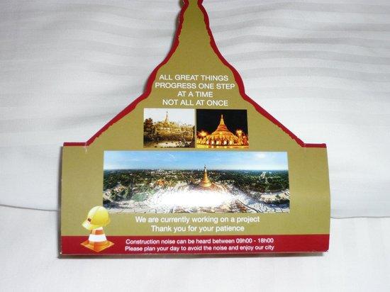 Sule Shangri-La Yangon: upfront about renovations
