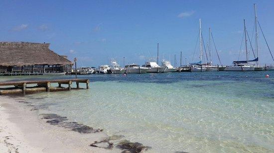 Las Perlas Condos: Playa y restaurand