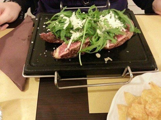 Mr Manzo : Tagliata argentina rucola e parmigiano