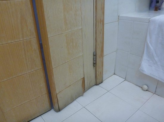 Bayview Hotel & Apartments : Bathroom door needing some TLC