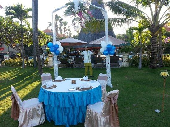 Sadara Resort: De mooi gedekte tafel met Sawidjo