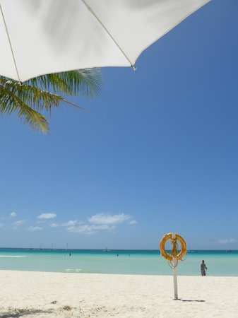 Fridays Boracay: View from the beach beds!