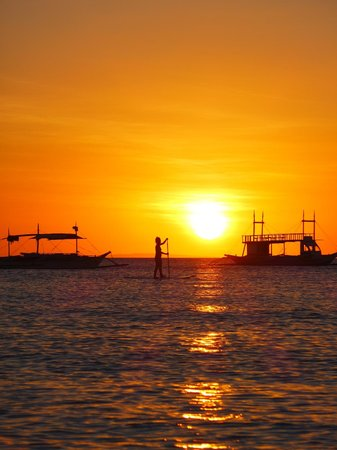 Friday's Boracay: Sunset from Fridays