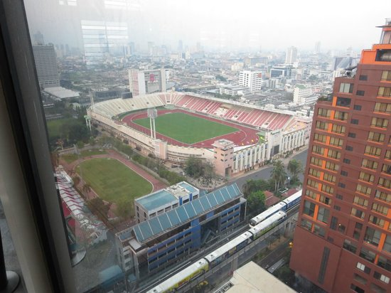 View Of The National Stadium Picture Of Holiday Inn Express Bangkok Siam Bangkok Tripadvisor