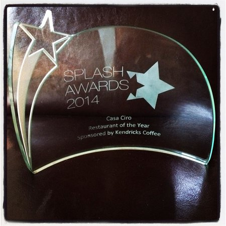 Casa Ciro: Restaurant of the Year 2014 - Splash FM Awards