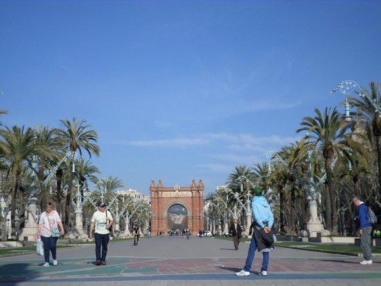 Arc de Triomf : viale in cui si trova l'arco