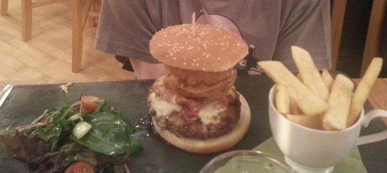 Brad Simpson: This photo does not do justice to the size of this Burger.