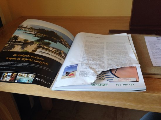 Hesperia Lanzarote: The first day when I opened the magazine from the room! Not a new one for sure!