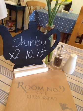 Room No.9: Personal service ... Booked by Shirley