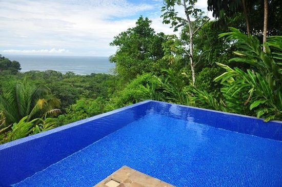 TikiVillas Rainforest Lodge : Another view over the pool