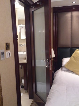 Shaftesbury Premier Hotel London Paddington: bathroom door cannot be fully open
