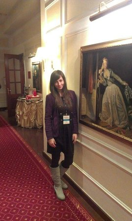 Borodino Hotel : Коридор у входа в банкетный зал