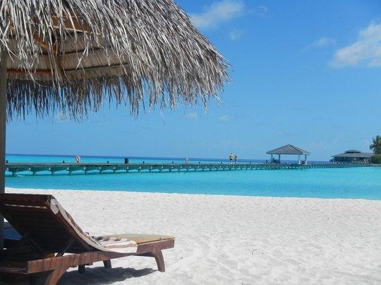 Sun Island Resort and Spa : ponton vue de la plage