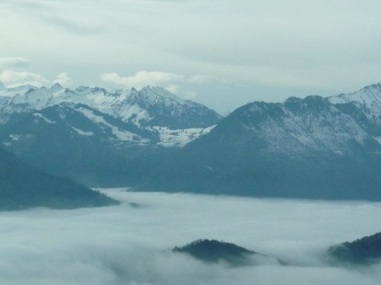 Rigi: Emerging from the mists over Lake lucerne