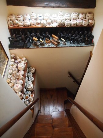 Li'le Hullets: The little staircase to the attic room is full of wonderful bits & bobs