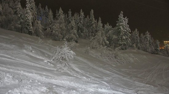 Levi Ski Resort: вечерний склон