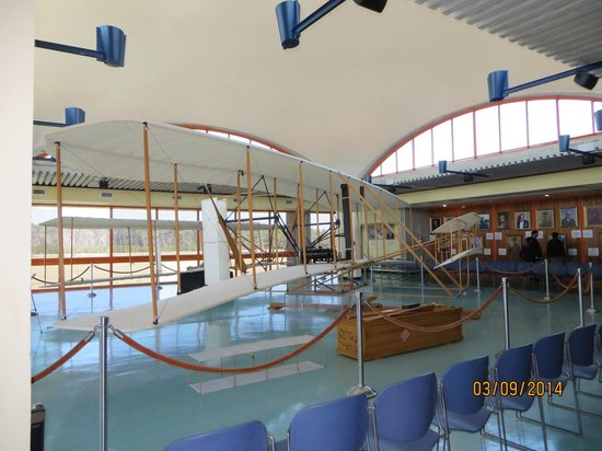 The Monument to a Century of Flight: replica of the plane