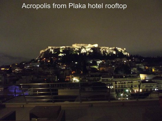 Plaka Hotel: Rooftop view