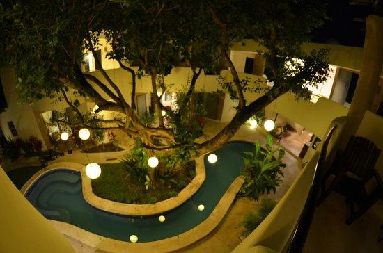 Hotel Posada 06 Tulum: Vue du balcon de notre chambre