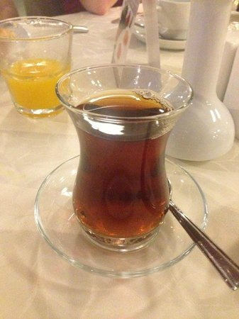 Welcome Tea no Goreme Inn Hotel.