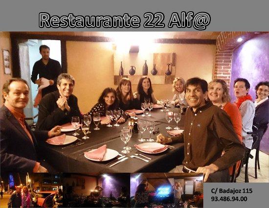 22 alf@: Celebración en sala privada