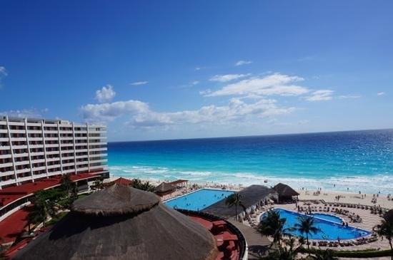 Crown Paradise Club Cancun: view from club room 8th floor
