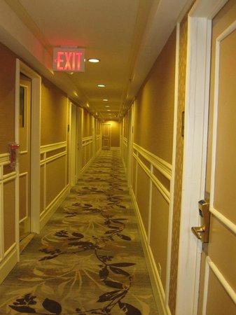 Skyline Hotel: Korridor utanför rummet.
