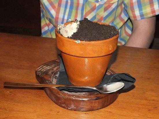 The Mulberry: The Flower Pot dessert.