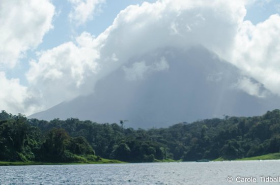 Lake Arenal: The volcano.