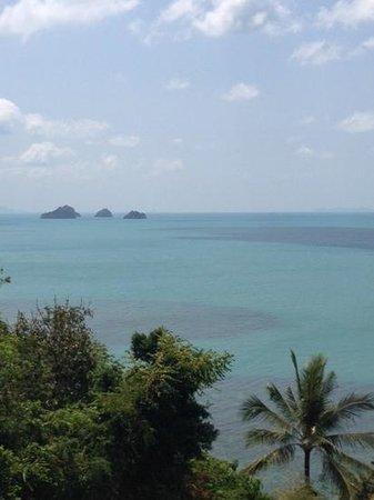 InterContinental Samui Baan Taling Ngam Resort: vue du restaurant d en haut